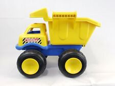 Tonka Large Blue And Yellow Plastic Dump Truck With Handles