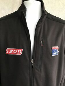 IZOD Indycar Series Track Jacket Firestone Racing Black Full Zip Mens Sz L