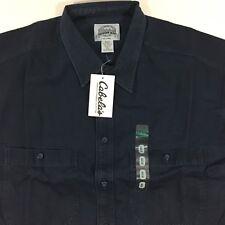 Cabellas 100% Cotton Heavy Long Sleeve Shirt XL Tall