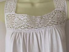 M&s la maison de senteurs Blanc Modal Coton Blend Chemise de nuit nuisette taille 18