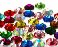 1000 x Nail Art Rhinestones Acrylic Studs Gems Crystal Diamonte Decor 4mm Mixed