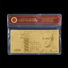 WR Billete de oro de España 10000 Pesetas de papel de oro Nota de arte