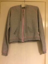 Grey Pineapple Womens Tracksuit Top with Pink Trim