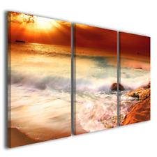 3baa9a869b Quadro tramonto Seashore mare barche spiaggia stampa su tela canvas arredo  casa