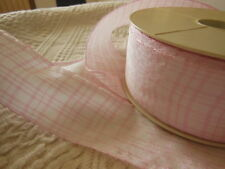 large galon année 80 ideal chapeau rose blanc satiné 3 mètres sur 5 cm