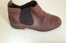 WOMEN Ladies Tan Leather Ankle Boots Size 7 Shoe box