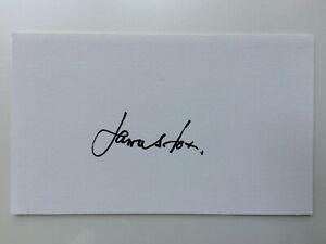 James Fox - Never Say Never Again - Original Hand Signed Autograph
