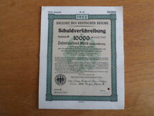 1922 Weimar German Bond-10000 Mark Bond