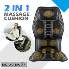 2 IN 1 9 Motor Massaging Back Massage Seat Pad Massager Chair Cushion Car New