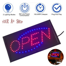 Ultra Bright Led Open Sign Neon Light Animated Motion Business Flash Ad Board