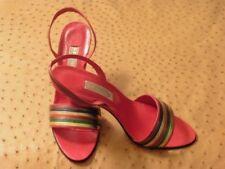 Chaussures à talons vintage rouge pour femme