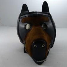 Premium quality leather dog hood (HL-07-LEATHER), FREE UK DELIVERY