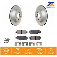 Rear Coated Disc Rotors & Ceramic Brake Pads Fits Chevrolet Cruze Sonic Buick