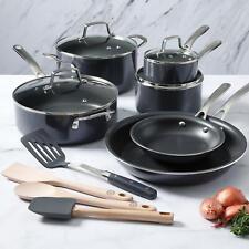 Martha Stewart 14-Piece Non-Stick Aluminum Cookware Set - Gray NEW !!!
