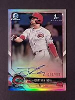 2018 Bowman Chrome Refractor Jonathan India Auto 1st Bowman /499