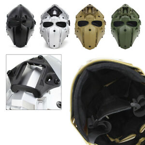 Full Face Mask Tactical Helmet Airsoft Game Paintball CF CS Goggles & G4 system