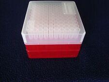 Thomas Scientific 100 plastic tubes with red storage cube