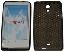 Pattern Gel Case Protector Cover For Sony Ericsson Xperia T LT30P LT30i Black UK