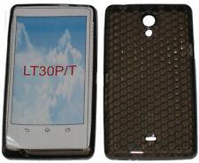 Patrón de gel caso Protector cubierta para Sony Ericsson Xperia LT30P LT30i Negro UK T