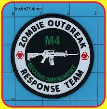 ZOMBIE OUTBREAK RESPONSE TEAM patch Iron on ARMY 2nd Amendment BIOHAZARD M4