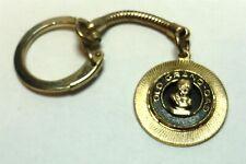 Dad Dist Whiskies Keychain Vintage Goldtone Old Grand