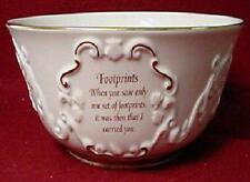 LENOX FOOTPRINTS IN THE SAND DECORATIVE BOWL NEW IN BOX