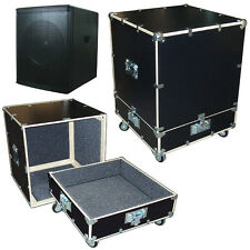 "Subwoofer Speaker 1/2"" Ply Road Case Kit w/Bare Wood Edges - ID 23""x23""x28"" H"