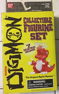 Digimon Digital Monsters Bandai Mini Figure set #1920 7pcs 1997 NEW Open Box