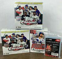 2020 Topps Chrome Baseball Card LOT of (2) Mega Box + (1) Blaster Box SEALED 🔥