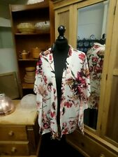 GRACE WHITE /CREAM FLORAL KIMONO SLEEVE BLOUSE PLUS SIZE 8-32 DEBENHAMS RRP £45