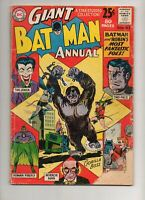 Batman Annual #3 1962 JOKER Cov/Story! Two-Face, Mad-Hatter 80-Page Giant VG 3.5