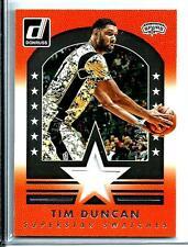 2015-16 Donruss Super Star Swatches Jersey Tim Duncan D # 089/199 San Antonio