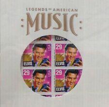 40 ELVIS PRESLEY STAMPS Record Album SAVER SLEEVE Commemorative Mint Sheet NEW