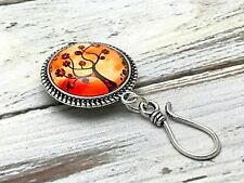 Magnetic Portuguese Knitting Pin- ID Badge Holder- Sunrise Tree