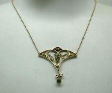 Peridot 9 Carat Art Nouveau (1895-1910) Fine Jewellery