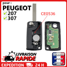 Coque clé vierge plip pour Peugeot 207 307 308 SW à programmer 2 boutons boitier