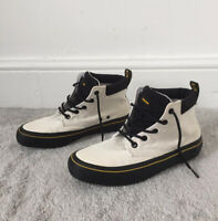 Dr Martens Shoes Size 6 White Black Allana Canvas Lace Up Hi Top