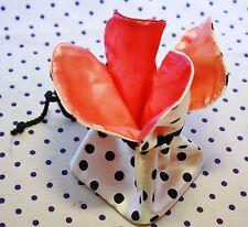 BeautiControl Black & White Polka Dot Drawstring Fabric Gift Cosmetic Makeup Bag