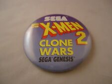 X-Men 2 Clone Wars Sega Genesis Promotional Button Pin Back Promo