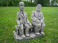Laurel and Hardy stone garden ornament | Many more ornaments in my shop!