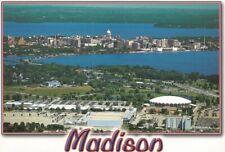 Vintage University of Wisconsin Badgers Arena Stadium Postcard Nba Bucks Too!