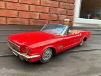 Japan Tinplate Battery Operated Ford Mustang Convertible - Awesome 1960s Model