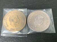 Hawaii Medal- Rare 1966 Merry Monarch Festival Hilo, Hawaii Bronze, Silver #'d