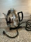 Vintage General Electric Pot Belly Percolator 48P40 9 Cup Working Condition