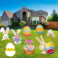 Happy Storm Easter Yard Signs 8Pcs Stakes Sign.