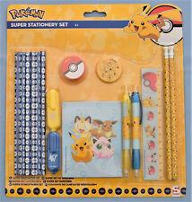 Pokemon Maxi Set de papeterie 16 accessoires Pokémon neuf sous emballage