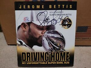 Pittsburgh Steelers Jerome Bettis autographed/signed Driving Home book JSA Coa