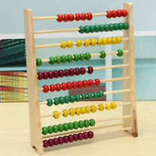10 Beads Wooden Abacus Counting Number Child Math Learning Teaching Exercise Toy