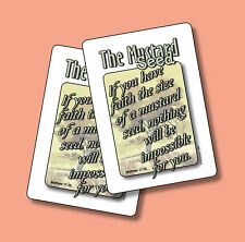 """The Mustard Seed"" - Matthew 17:20 - 2 Verse Cards - SKU# 882"