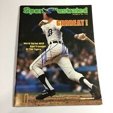Alan Trammell Detroit Tigers Signed Auto 1984 Sports Illustrated WS MVP 2018 HOF